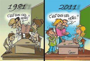 évolution enseignement